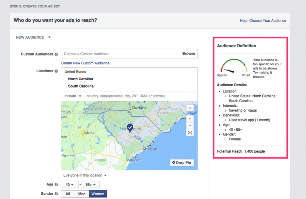 how to get demographic data from facebook