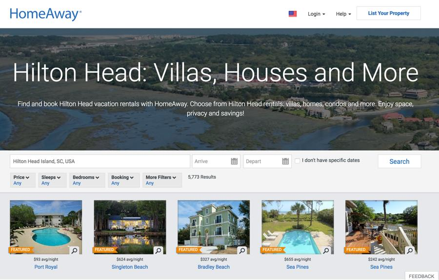 HomeAway's New Theme Layout. Source: https://www.homeaway.com/theme/hilton-head