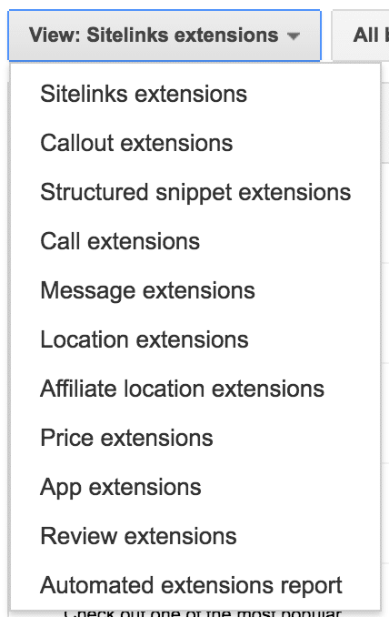 all extensions options 1